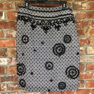 Badgley Mischka black and white skirt size 8